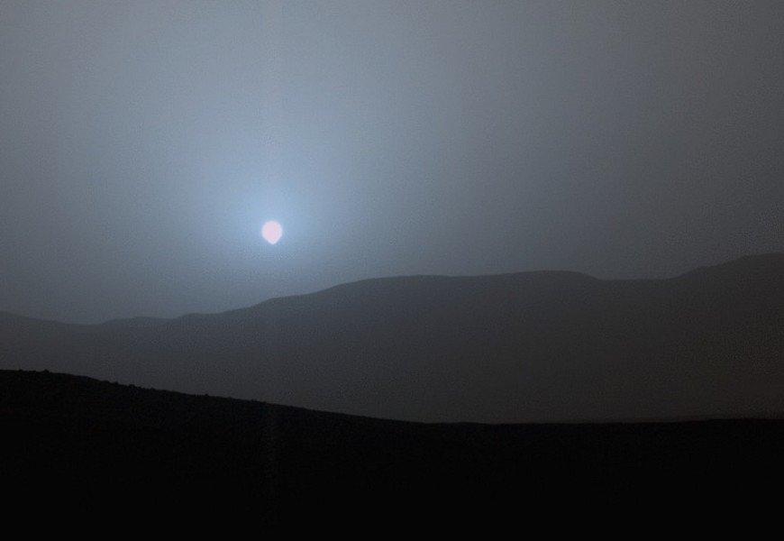 Pirmo reizi no Marsa virsmas iemūžināts Saules riets