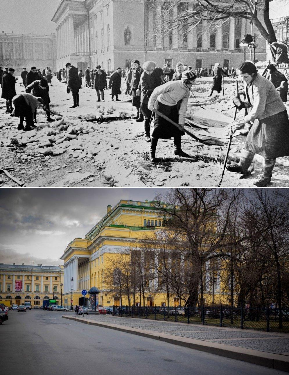 Архивные фото: советские города во время Второй мировой и российские — сегодня