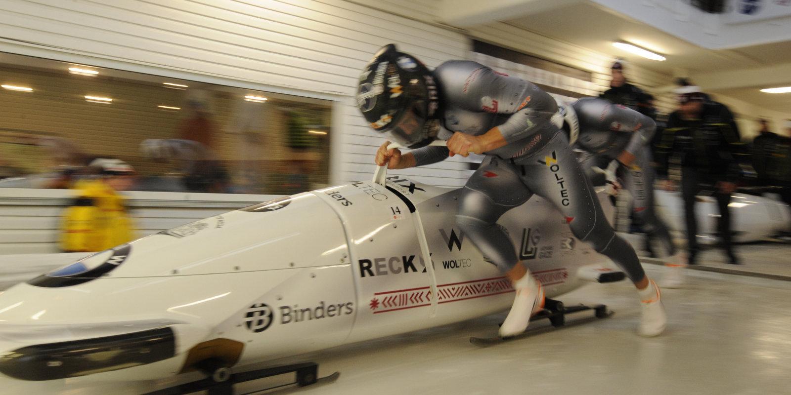 Vienlīdzīgāks par citiem – bobslejisti LOV elitē 'iestumj' sportistu bez pieredzes