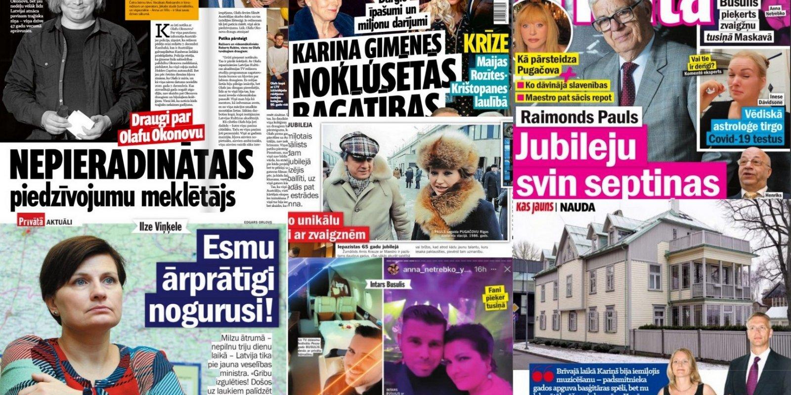Тайное имущество жены Кариньша и Нетребко в Риге: о чем пишут латышские таблоиды