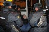 Krievijas protesti : Maskavas un Sanktpēterburgas mītiņotāji izdzenāti; aizturēti aptuveni 500 protestētāji