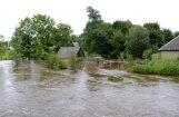 Из-за обильных осадков на востоке Латвии вновь поднимается уровень воды в реках