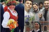 Foto: Kā slavenie latvieši ieskandināja Dziesmu un deju svētkus