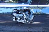 Zolitūdē ar parastu konservu attaisāmo sabojā BMW, lai nozagtu lukturus