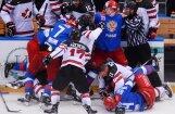 ВИДЕО: Российские хоккеисты подрались с канадцами в Сочи