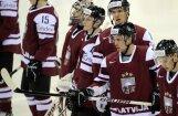 Nosaukti Latvijas hokeja izlases kandidāti pasaules čempionātam