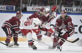 Rīgas 'Dinamo' dramatiskā mača izskaņā izrauj uzvaru pār spēcīgo Jaroslavļas 'Lokomotiv'