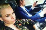 Liene Greifāne glīta selfija dēļ pārkāpj Ceļu satiksmes noteikumus