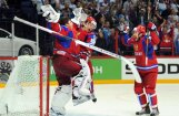 Fotoreportāža: Krievijas hokejisti gavilē pasaules čempionātā