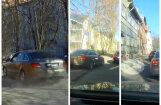 Video: Igaunijā kāds 'Audi' vadītājs sastrēgumus regulāri apbrauc pa trotuāru