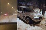 Video: Cēsīs divi BMW driftē un ietriecas viens otrā