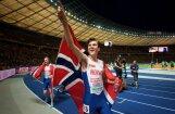 17 gadus vecais Ingebrigtsens izcīna zeltu arī 5000 metru skrējienā