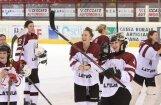 Latvijas hokejistes pasaules čempionāta noslēdzošajā mačā uzveic Kazahstānu