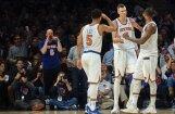 Porziņģis no traumas atgriežas ar 34 punktiem, palīdzot 'Knicks' sagraut 'Kings'