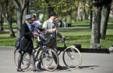 В Риге состоится третий парад ретро-велосипедов и костюмов