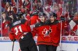 Kanādas hokejisti izvirzās līderos junioru PČ