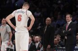 Porziņģis šonakt nepalīdzēs 'Knicks' komandai Ņujorkas derbijā pret 'Nets'