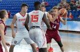 Latvijas U-16 basketbolisti ar smagu zaudējumu Spānijas vienaudžiem sāk Eiropas čempionātu