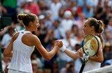 Plīškova zaudē Vimbldonas otrajā kārtā, tomēr saglabā cerības uz WTA ranga vadību