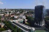 Londonā izdeg augstceltne 'Grenfell Tower'; apstiprina jau sešu cilvēku nāvi