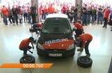 Video: Ginesa rekords auto riteņu maiņā – mazāk nekā minūte