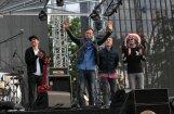 Foto: 'Prāta vētras' koncerts Ventspilī pulcē rekordlielu klausītāju skaitu