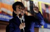 Abe pēc uzvaras vēlēšanās sola būt stingrs pret Ziemeļkoreju