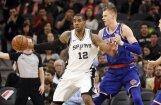 Porziņģim 18 punkti 'Knicks' zaudējumā Bertāna 'Spurs'