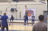 Video: Porziņģis gatavojas sezonas pēdējam latviešu duelim NBA