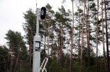 Ozolnieku novadā aizdedzināts stacionārais fotoradars