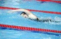 Peldētāja Ņikitina labo Latvijas rekordu 50 metru brīvā stila distancē
