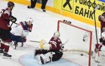 Latvijas hokejisti divreiz nenotur divu vārtu pārsvaru un piedzīvo sāpīgu zaudējumu ASV