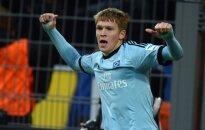 Rudņevs gūst divus vārtus spēlē pret Vācijas čempioniem 'Borussia'