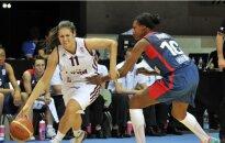 Latvijas basketbolistes EČ ieskaņā nespēj izrādīt pretestību favorītei Francijai