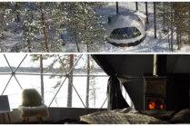 Telts kā omulīgs kalnu namiņš – neparasta naktsmītne Somijā