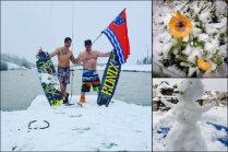 Получи, глобальное потепление! В городе-побратиме Елгавы выпал первый снег