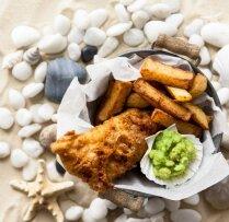 Fish and Chips jeb cepta zivs ar kartupeļiem