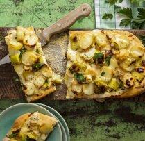 Pica ar kartupeļiem un puraviem