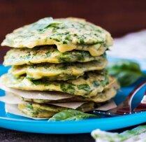 Блинчики с сыром и свежей зеленью