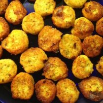 Оладьи из вареного картофеля с сыром