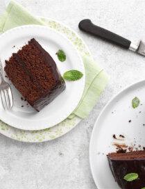 Šokolādes kūka ar piparmētrām