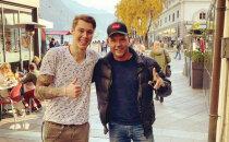 Foto: Šveicē sastapušies divi slaveni latvieši