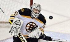 Par NHL novembra vērtīgāko spēlētāju atzīts 'Bruins' vārtsargs Tomass