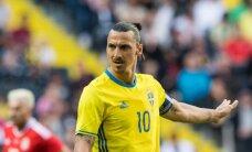 Ibrahimovičs pēc EURO 2016 noslēgs karjeru Zviedrijas futbola izlasē