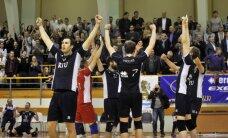 'RTU/Robežsardze' volejbolisti trešo gadu pēc kārtas triumfē Latvijas čempionātā