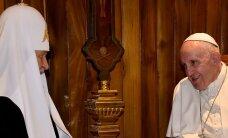 Предстоятель Русской православной церкви впервые в истории встречается с Папой Римским