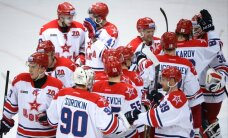 CSKA ar 'sauso' uzvaru sāk Gagarina kausa izcīņas Rietumu konferences finālsēriju