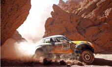 Dakaras rallija dalībnieki cīnās ar lamām un kalniem