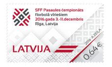 Latvijas Pasts izdod pastmarku veltītu pasaules čempionātam florbolā vīriešiem