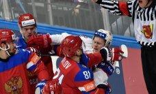 Video: Krievijas hokejistiem pārliecinoša uzvara pret Norvēģiju